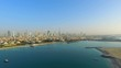 Aerial view Dubai downtown horizon panorama cityscape from Maritime city video 4k. Skyscrapers modern buildings Travel tourism business in United Arab Emirates