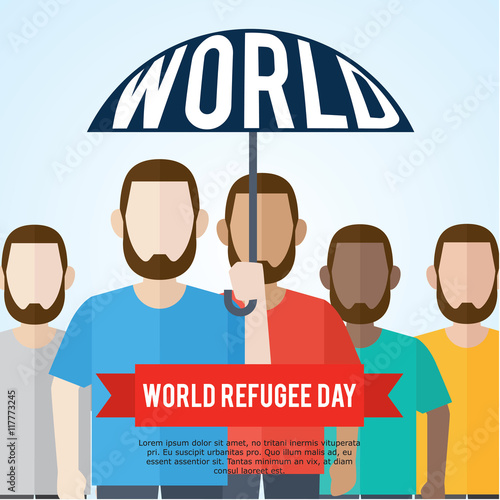 world refugee day campaign poster refugee awareness poster template