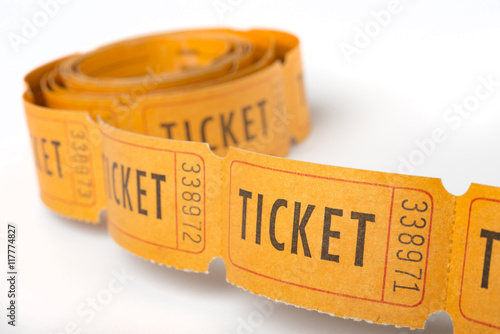 Fotografía  Toll of vintage tickets