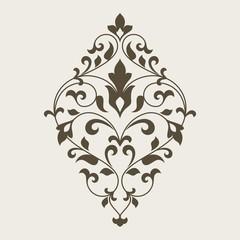 FototapetaOrnamental floral element for design.
