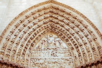 An alcove above a door at Notre Dame, Paris.