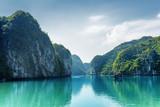 Piękny widok laguna w brzęczeniach Tęsk zatoka, Wietnam - 117785856