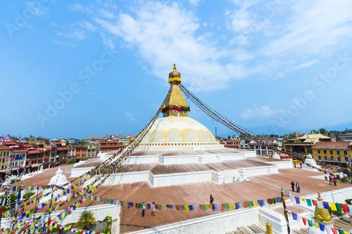 Fotografia The famous Buddhist stupa at Boudanath, in Nepal.