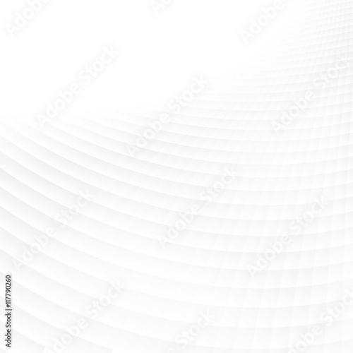 Fotografiet  White wavy background