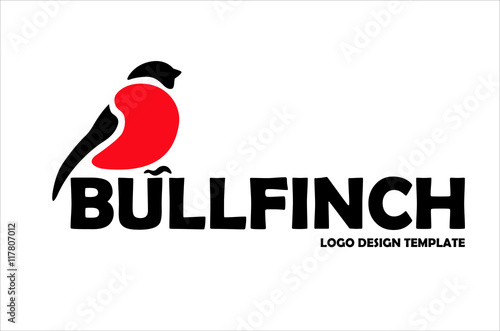 Bullfinch logo design template Canvas Print