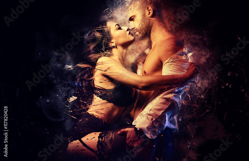 Couple in love Canvas Print