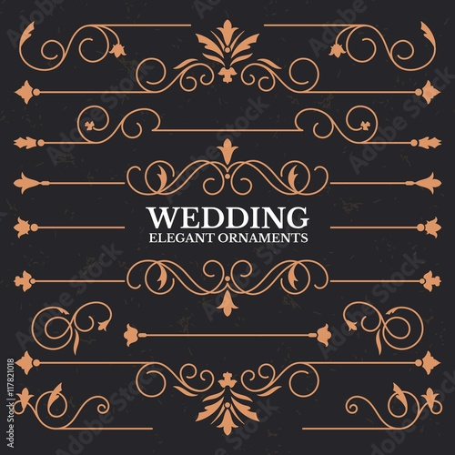 Fotografía  Elegant wedding borders