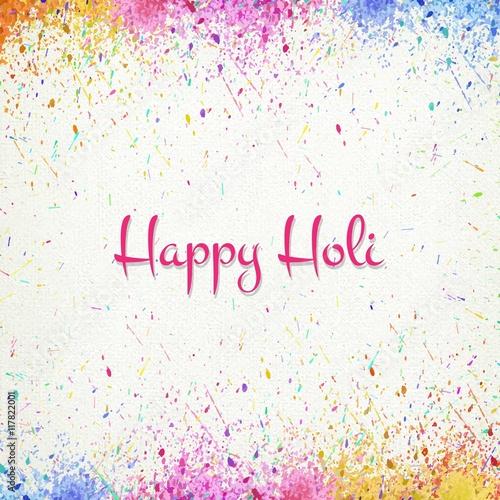 Colors splashes Happy Holi Fototapeta
