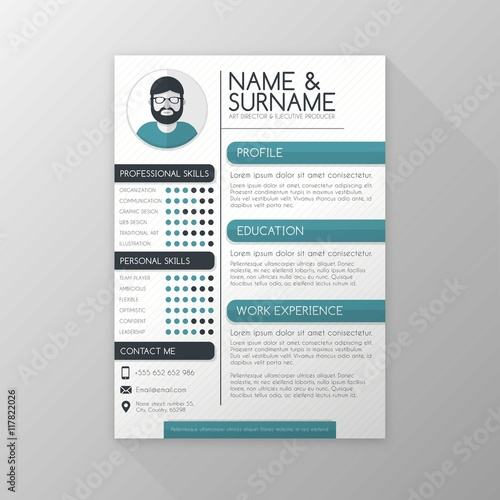 Art Director Resume Template Buy This Stock Vector And Explore