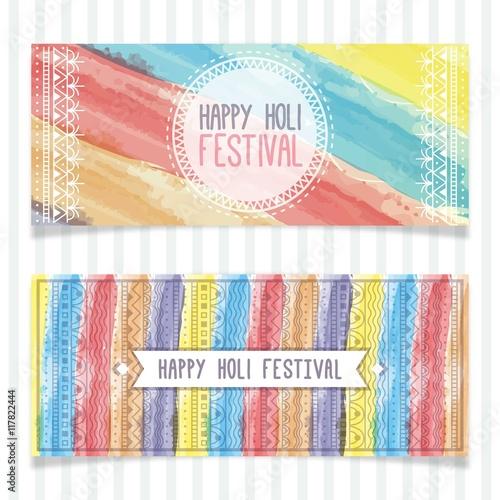 Ornamental watercolor Holi festival banners Slika na platnu
