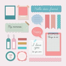 Cute Scrapbooking Elements Pack