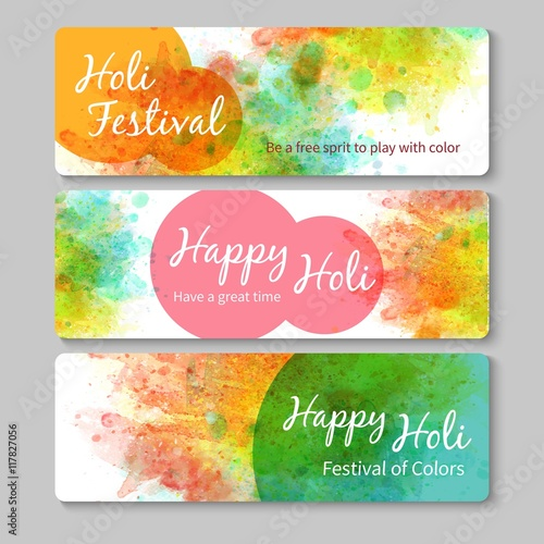 Fotografija  Hand painted Holy festival banners
