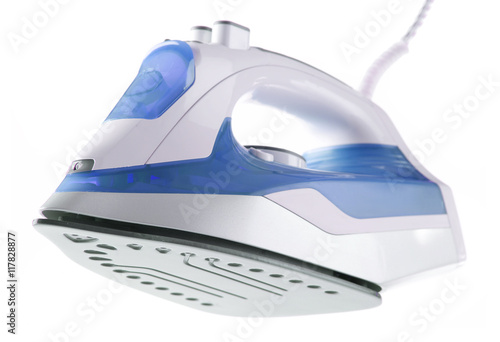 Fotografie, Obraz  Modern electric iron isolated on white