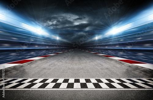 Photo sur Aluminium F1 Track arena 3d
