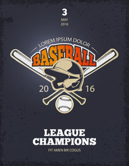 FototapetaRetro baseball vector poster