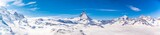 Matterhorn and snow mountains panorama view at Gornergrat, Switzerland