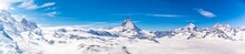Matterhorn And Snow Mountains Panorama View At Gornergrat, Switzerland