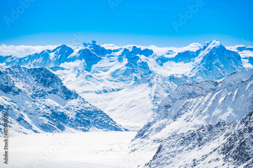 Fototapety, obrazy: Snow mountains view at Jungfrau viewpoint, Switzerland