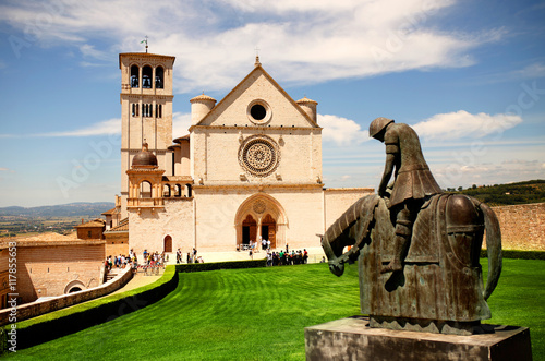 Basilica San Francesco d'Assisi Canvas Print