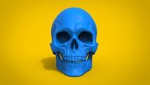 Blue Skull  - 3D Illustration