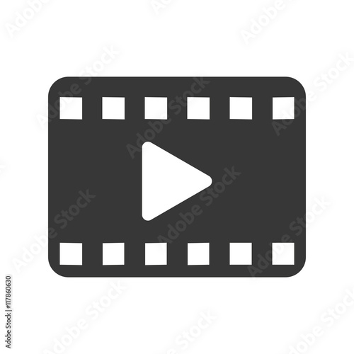 Obraz flat design play video icon vector illustration - fototapety do salonu