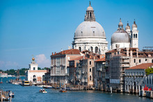 Canal View In Venice, Italy
