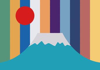 Fototapeta富士山のクラフトデザイン