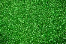 Green Glitter Background