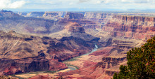 Panorama Image Of Colorado River Through Grand Canyon