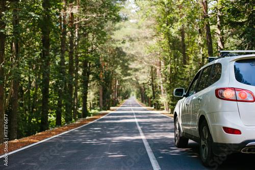 Valokuva  Driving car on road