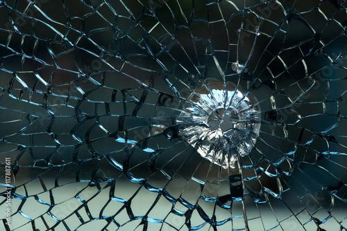 Valokuva  Glas- Bruch-Scheibe