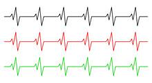 Heart Rhythm, Ecg Line Vector ...