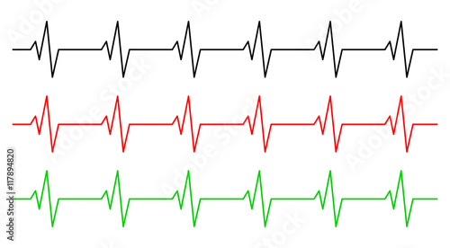 heart rhythm, ecg line vector symbol icon design Canvas-taulu