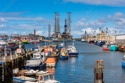 Fishing Harbour of IJmuiden Netherlands in spring Canvas-taulu