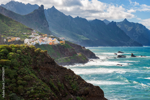 In de dag Canarische Eilanden Coastal village in Tenerife Canary Islands Spain