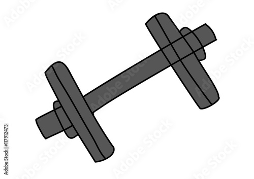Naklejka premium siłownia