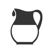 Pitcher Liquid Drink Icon Vector Graphic