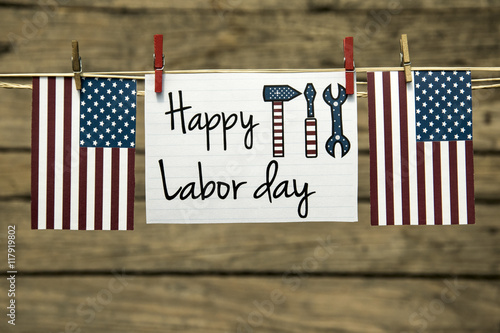 Labor day usa greeting card or background.