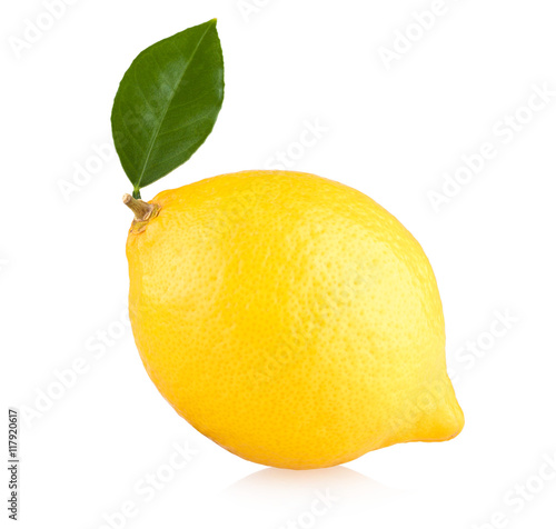 Fotografia ripe lemon isolated on white background