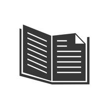 Book Open Single Read Education Vector Graphic Icon