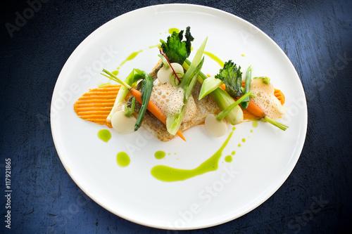 Deurstickers Klaar gerecht Cuisine gastronomique