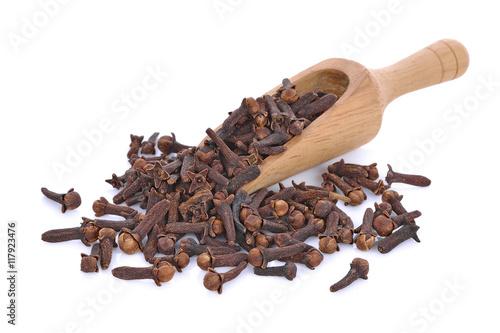 Fotografie, Obraz  Spice cloves on white background(dry cloves )