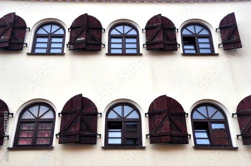 Foto op Aluminium Oost Europa Klaipeda (Memel) - Hausfassade in der historischen Altstadt