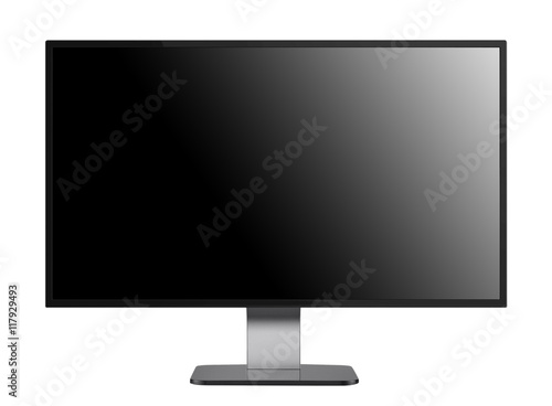 flat screen monitor isolated