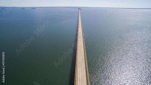 Fotografija  Aerial view Bridge of mato grosso state border with sao paulo st