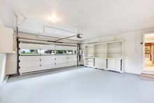 Empty Garage Interior In Ameri...