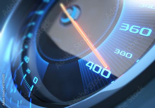 fototapeta na lodówkę Speedometer High Speed