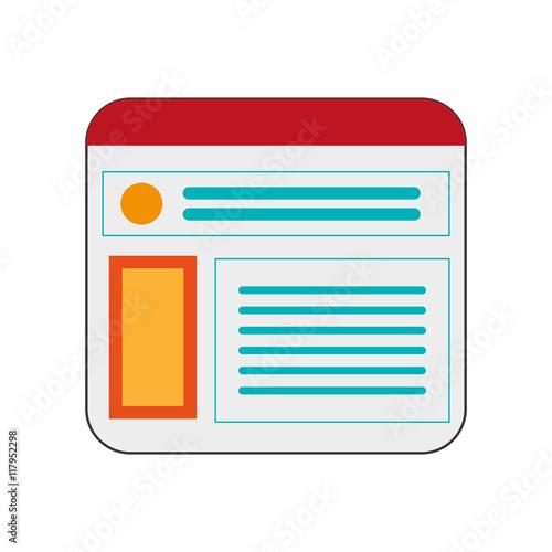 Fotografie, Obraz  flat design single webpage icon vector illustration