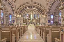 Catholic Church Interior In Bo...