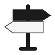 Flat Design Street Name Sign Icon Vector Illustration